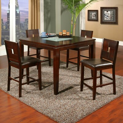 Alpine Furniture Lakeport 5 Piece Counter Height Dining Set