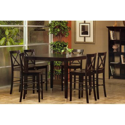 Alpine Furniture Bayview 7 Piece Counter Height Dining Set