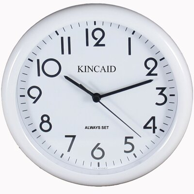 Kincaid Clocks Always Set ™ Wall Clock in White