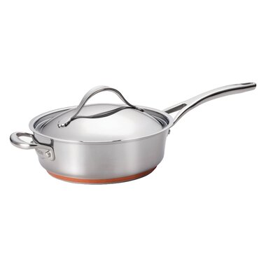 Anolon Nouvelle Stainless 3-qt. Saute Pan with Lid