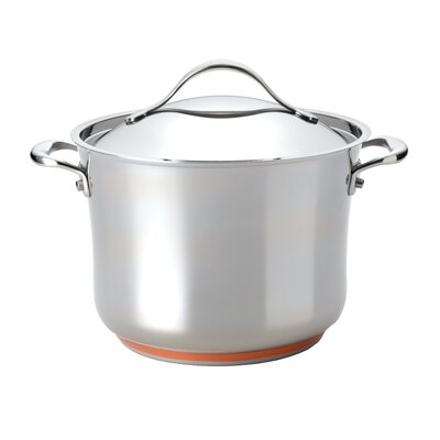 Anolon Nouvelle Stainless 8.25-qt. Stock Pot with Lid