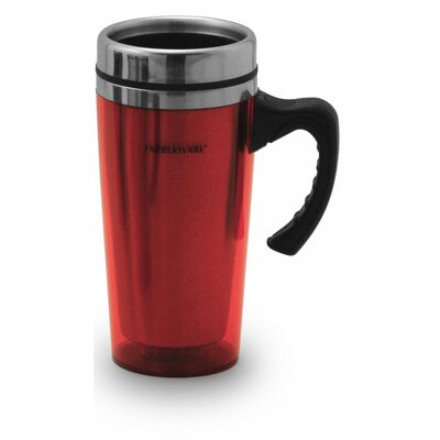 Acrylic Travel Mug in Red (Set of 2)