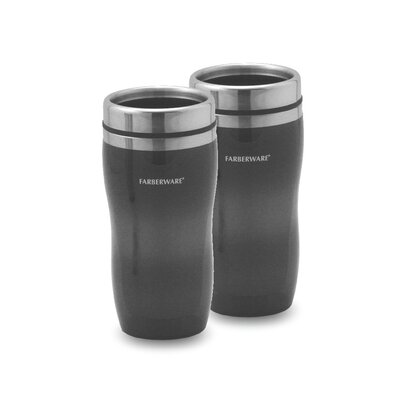 Travel Mug in Smoke (Set of 2)