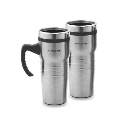 Travel Mug in Stainless Steel (Set of 2)