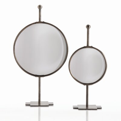 ARTERIORS Home Garbo Tabletop Adjustable Convex Mirror in Antique Bronze