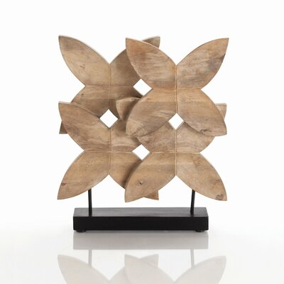 ARTERIORS Home Ella Carved Wood Sculpture in Natural Wax