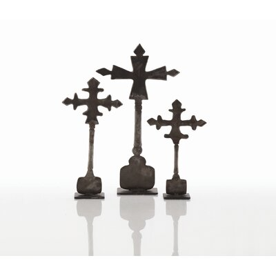 ARTERIORS Home Ivan 3 Piece Cross Sculpture Set