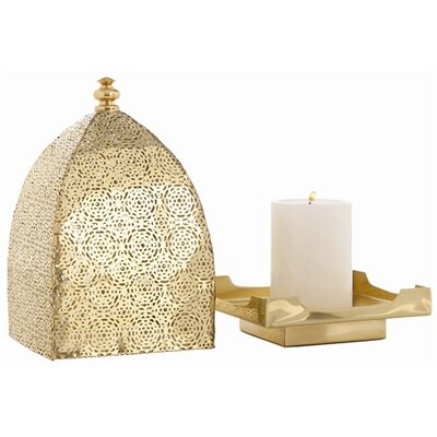 ARTERIORS Home Sullivan Polished Brass Perforated Lantern