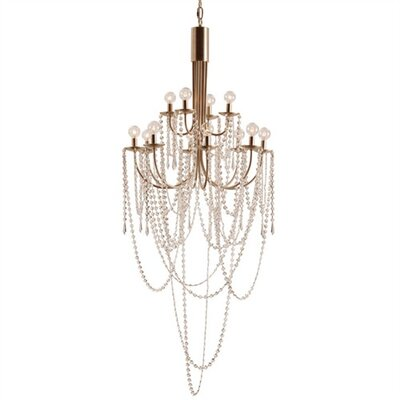 ARTERIORS Home Mirabelle 12 Light Iron / Glass Chandelier
