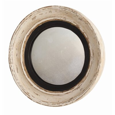 "ARTERIORS Home 28.5"" H x 28.5"" W Saintes Painted Hand Carved Convex Mirror"