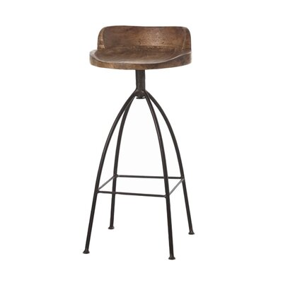 ARTERIORS Home Hinkley Wood / Iron Swivel Barstool