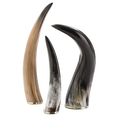 ARTERIORS Home Bernard Authentic 3 Piece Horn Set