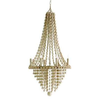 Maurice 8 Light Iron / Wood Chandelier