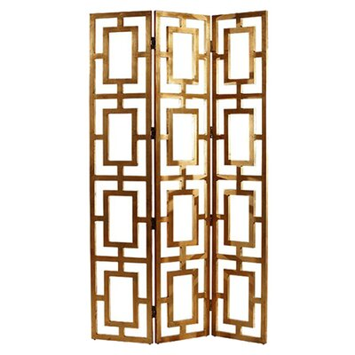 "<strong>ARTERIORS Home</strong> 80"" x 48"" Guilded Open-Work 3 Panel Room Divider"