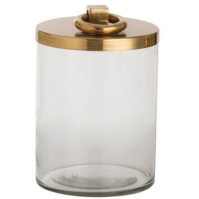 ARTERIORS Home Brooke Glass / Metal Canister