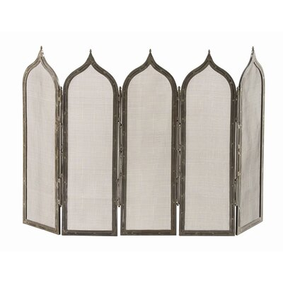 ARTERIORS Home Georgie 5 Panel Iron Fireplace Screen