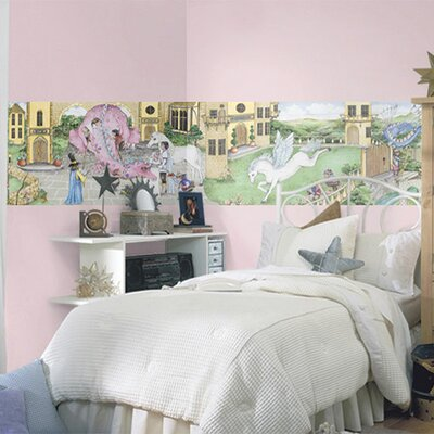 4 Walls Enchanted Kingdom Mural Style Wallpaper Border
