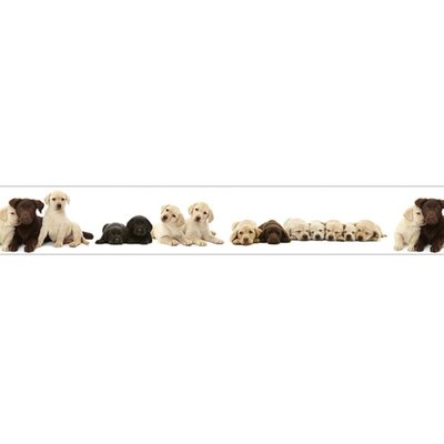 4 Walls Good Dog Mural Style Wallpaper Border