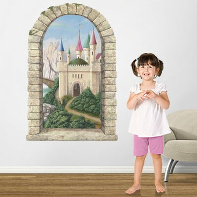 4 Walls Castle Window Main Gate Wall Decal