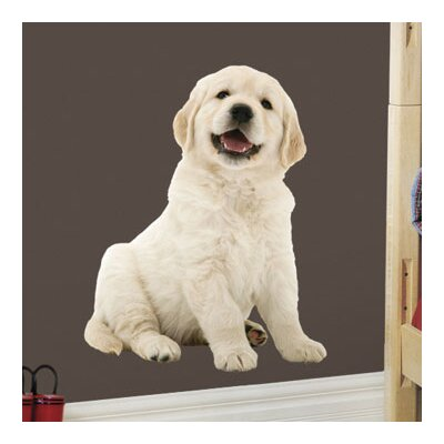 4 Walls Puppy Love Golden Retriever Wall Decal