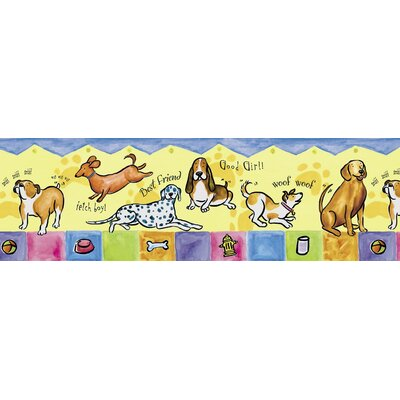4 Walls Panoramic Bow Wow Mural Style Border in Multi