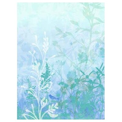 4 Walls Modern Murals Wildflower Mural in Light Blue