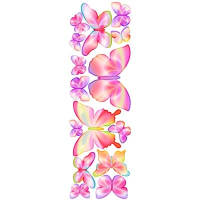 4 Walls Unique Peel and Stick Fluttering Butterfly Accents Wall Decal