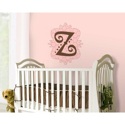 4 Walls Mod Monograms Letter Peel and Stick in Pink Set