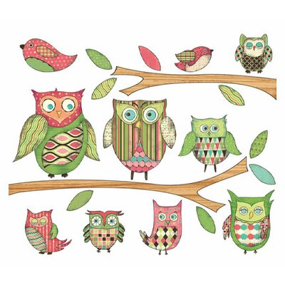 4 Walls Owls Branches Pre-Pasted Accent Wall Decal