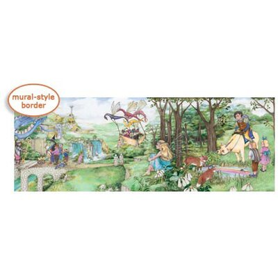 4 Walls Enchanted Kingdom Mural Style Border in Pink