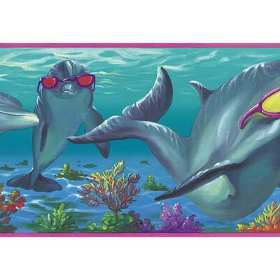 4 Walls Whimsical Children's Vol. 1 Dolphins Border in Pink