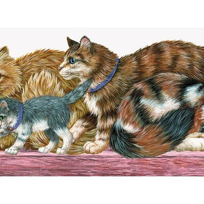 4 Walls Whimsical Children's Vol. 1 Cat Die-Cut Wallpaper Border