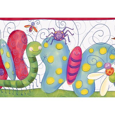 4 Walls Whimsical Children's Vol. 1 Bug Border in Red