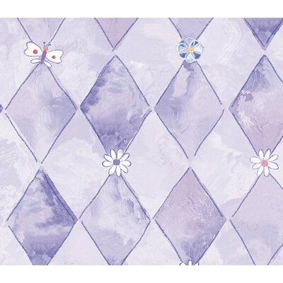 4 Walls Whimsical Children's Vol. 1 Groovy Flower Wallpaper in Purple