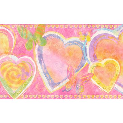 4 Walls Whimsical Children's Vol. 1 Heart Border in Hot Pink