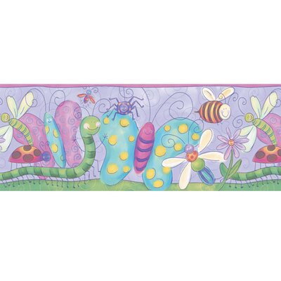 4 Walls Bugs Free Style Border Wallpaper in Purple