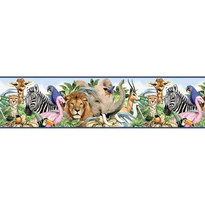 4 Walls Jungle Animals Free Style Wallpaper Border