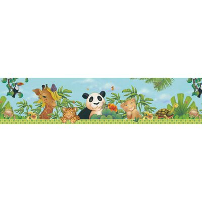 4 Walls Jungle Free Style Border Wallpaper in Bright