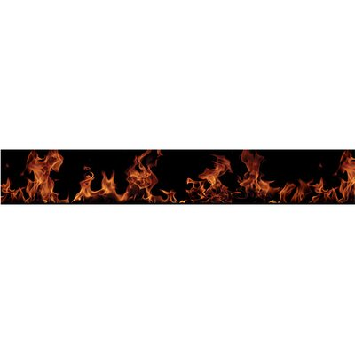 4 Walls Fired Up Free Style Border Wallpaper in Black