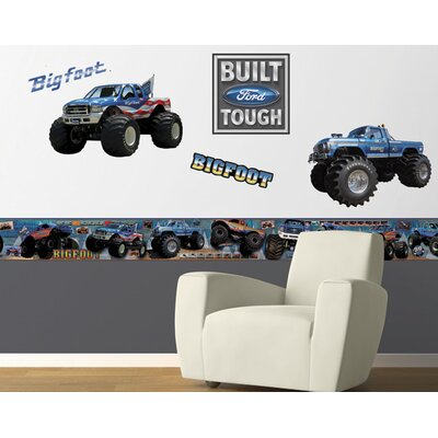 4 Walls Bigfoot Freestyle Peel and Stick Decal in Blue