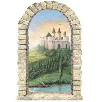 4 Walls Castle Window Wall Decal