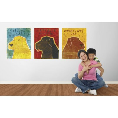 4 Walls Top Dog Yellow Lab Wall Decal