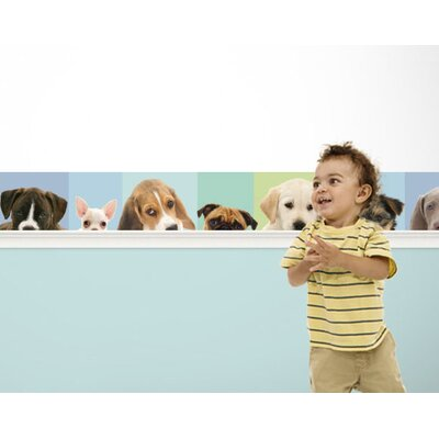 4 Walls Good Dog Mural Style Border Art