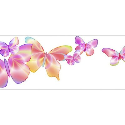 4 Walls Fluttering Butterfly Wallpaper Border