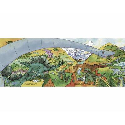 4 Walls Dinosaur Timeline Mural Style Wallpaper Border