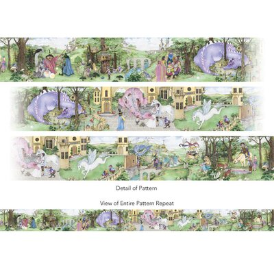 4 Walls Enchanted Kingdom Mural Style Border