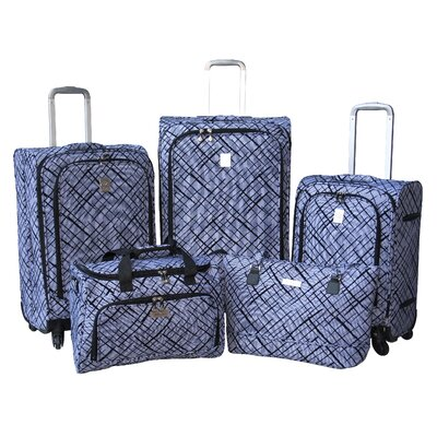 Jenni Chan Brush Strokes 360 Quattro 5 Piece Luggage Set