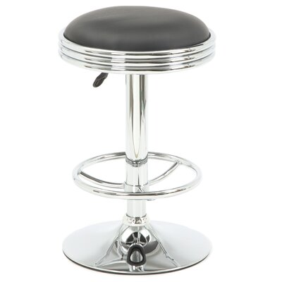 "Buffalo Tools Soda Fountain 23.5"" Adjustable Swivel Bar Stool with Cushion"
