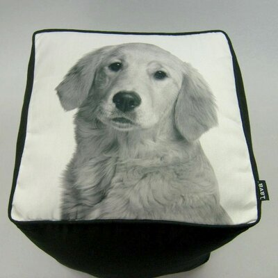 lava Golden Retriever Cube Ottoman
