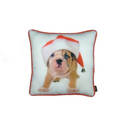 lava Holiday Bulldog Puppy Pillow